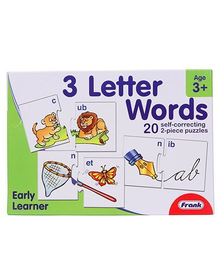 Frank Three Letter Words Self Correcting Puzzle 40 Pieces - Multicolour