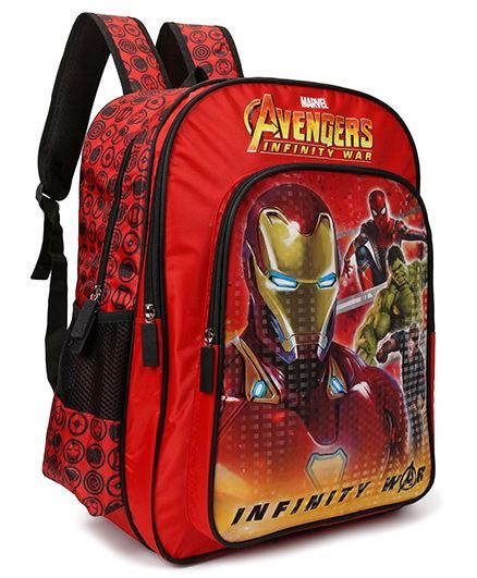 Marvel Avengers School Bag Red - 18 Inches
