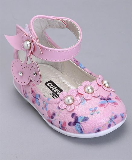 6c4649557fd Buy Cute Walk By Babyhug Party Wear Belly Shoes Floral Motifs Pink for  Girls (1-12 Months) Online, Shop at FirstCry.com - 1852899