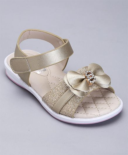 a7892ab368b1 Buy Cute Walk By Babyhug Party Wear Sandals Bow Applique Light ...