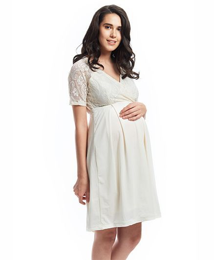 d8d5a565dabd Nuthatch Midi Lace Dress OffWhite Online in India