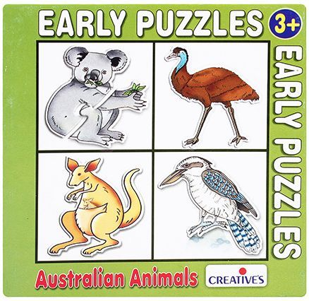 Early Puzzles - 4 Shaped Australian Animals
