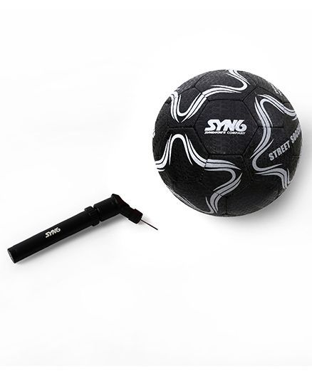 027cd458941 SYN6 Street Football With Air Pump Black Online India