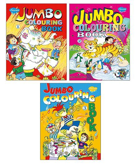 Sawan Jumbo Coloring Books Level 1 2 3 English Online In India Buy At Best Price From Firstcry Com 1904069