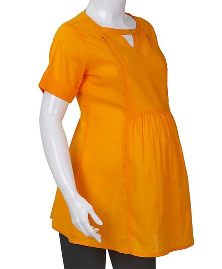 51a510c76e386 Kriti Half Sleeves Maternity Nursing Top Yellow Online in India, Buy at ...