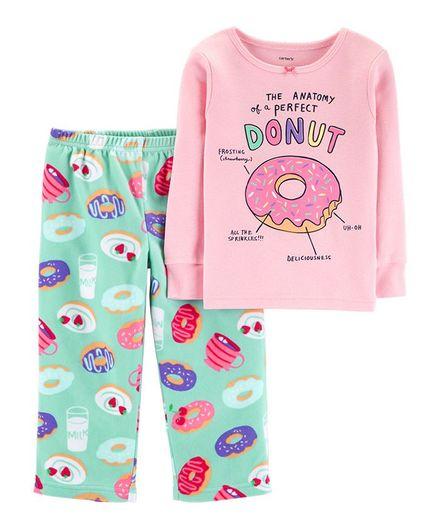 b91271217 Buy Carters 2Piece Glitter Donut Snug Fit Cotton   Fleece PJs Pink ...
