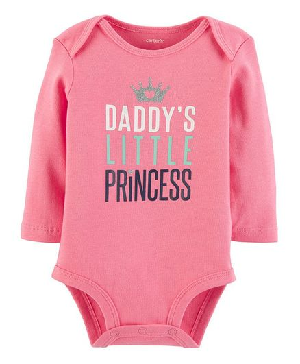 c4364619b Buy Carters Daddys Little Princess Bodysuit Pink for Girls (6-9 Months ...