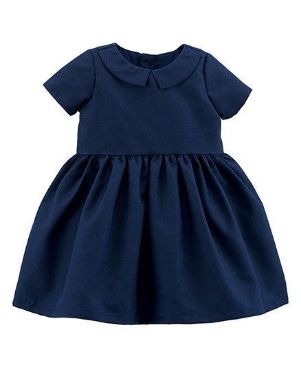d1fbdbbac Buy Carters Short Sleeves Collared Woven Dress Navy Blue for Girls ...