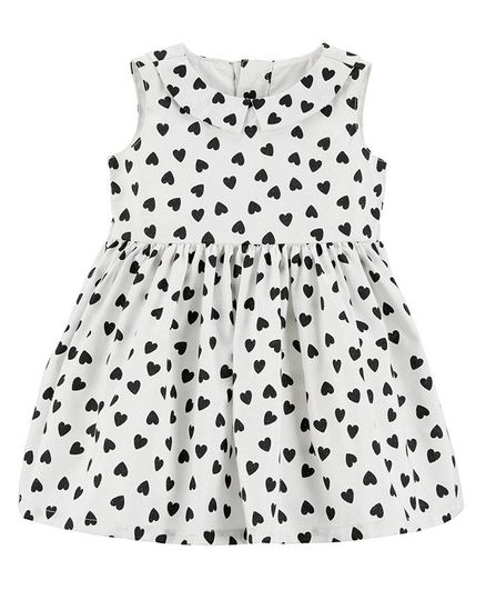 51b4398dc Buy Carters Heart Bow Holiday Dress White Black for Girls (6-9 ...