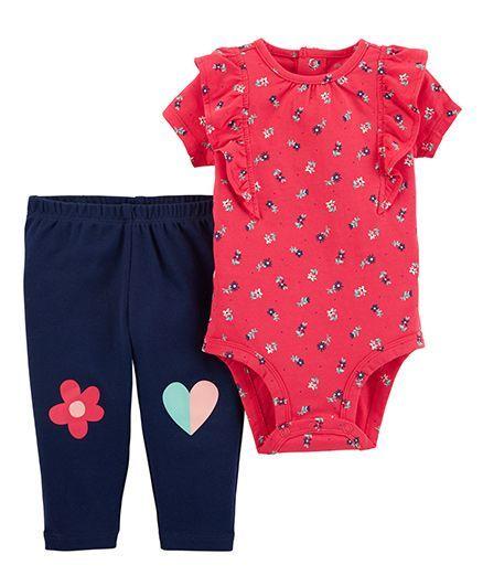 b715c52c2 Buy Carters Short Sleeves 2Piece Bodysuit Pant Set Red Navy for ...