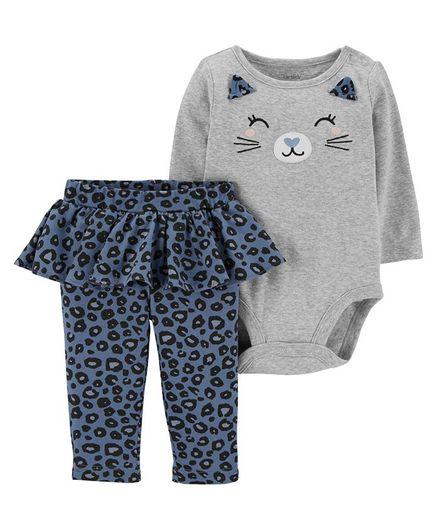71b333470b57 Carter's 2-Piece Cat Bodysuit & Tutu Pant Set - Grey. 9 to 12 Months ...