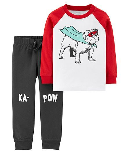 f498785c4 Buy Carters KaPow Coordinate Set Red & Grey for Boys (3-6 Months ...