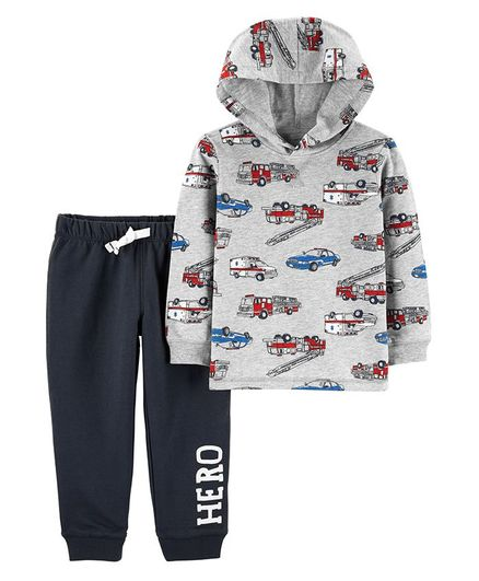 a744063ba Buy Carters 2 Piece Hero Vehicle Hoodie   French Terry Jogger Set ...