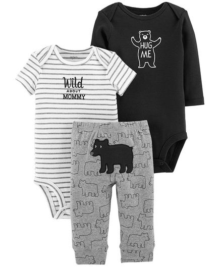 403bd3964 Buy Carters 3Piece Little Character Set Black for Boys (0-3 Months ...