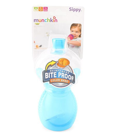 Munchkin Click Lock Bite Proof Sippy Bottle Aqua Blue - 266 ml