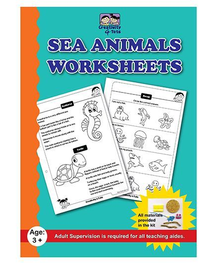 Creativity 4 Tots Sea Animals Worksheets - English