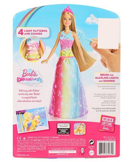 eb8d6c8f4d5 Barbie Dreamtopia Brush N Sparkle Princess Doll Pink Online India ...