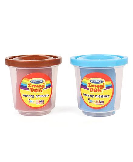 Imagician Playthings Clay Pack of 2 - 75 gm each (Color May Vary)
