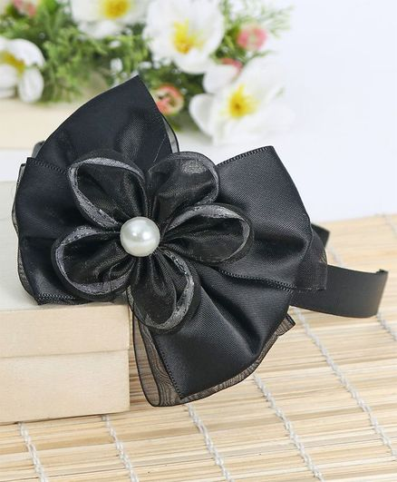 938f9373204 Babyhug Hair Band Bow   Floral Motif Black for Girls (2-6 Years ...