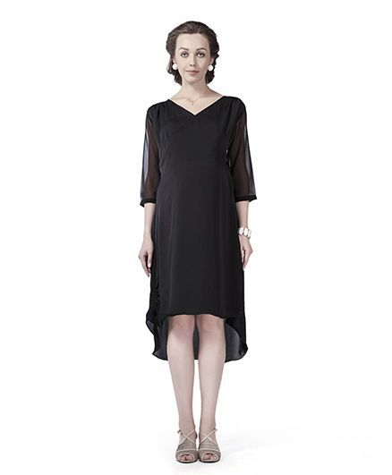 10831974b991a Innovative Balloon Overlap Maternity Dress Black Online in India, Buy at  Best Price from Firstcry.com - 1981918