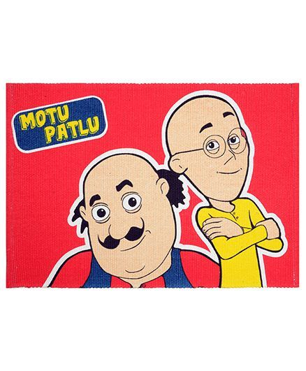 Saral Home Motu Patlu Theme Cotton Rug Red Online in India, Buy at Best  Price from Firstcry com - 1984450