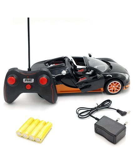 flyers bay rechargeable bugatti style remote control car black