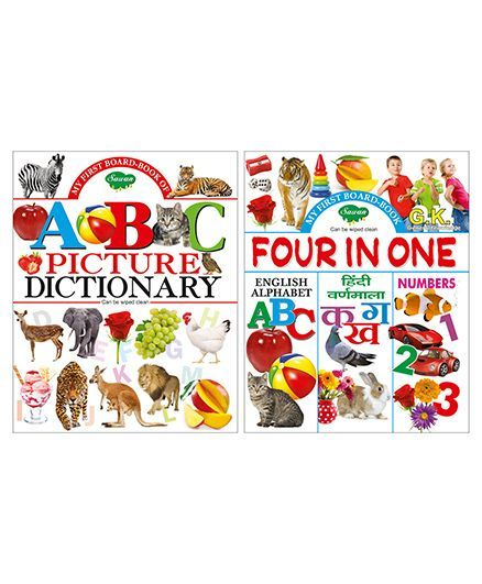 Sawan My First Board Book ABC Picture Dictionary Set of 2 Books English  Hindi Online in India, Buy at Best Price from Firstcry com - 2017824
