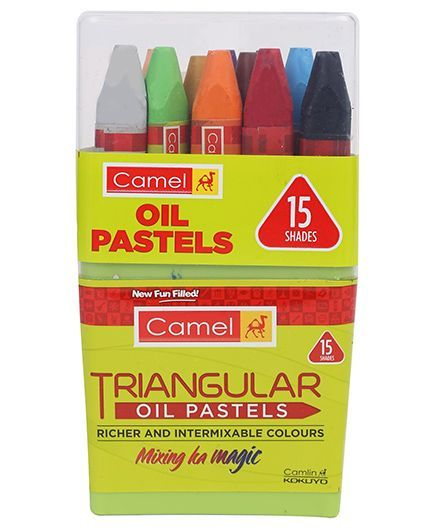 Camlin Triangular Oil Pastels - 15 Shades
