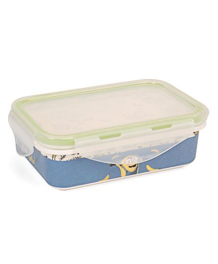 Minions Printed Lunch Box - Blue