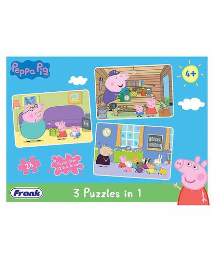 Frank 3 In 1 Peppa Pig Jigsaw Puzzle - 26 Pieces