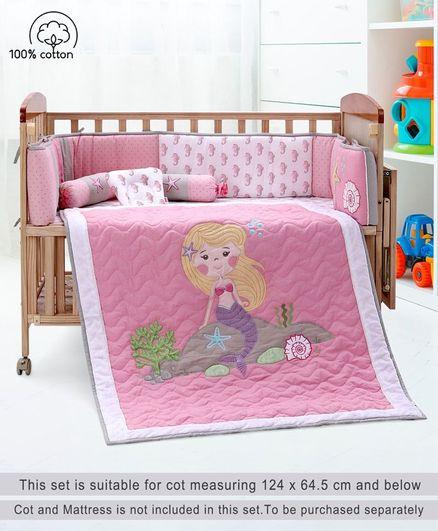 096ae7942 Babyhug Crib Bedding Set Seahorse Theme Small Pack of 6 Pink ...