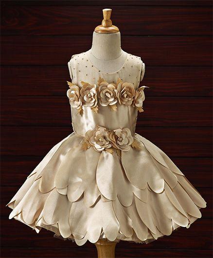 3cb73e192 Buy Enfance Flower Applique Layer Dress Copper for Girls (2-3 Years ...