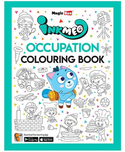 Inkmeo Occupation Colouring Book - English