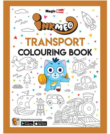 Inkmeo Transport Colouring Book - English
