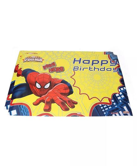 Funcart Spider Man Happy Birthday Poster Yellow - Pack of 2