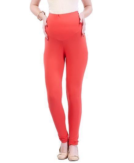 53be3ef74afab MomToBe Lycra Maternity Leggings Peach Online in India, Buy at ...