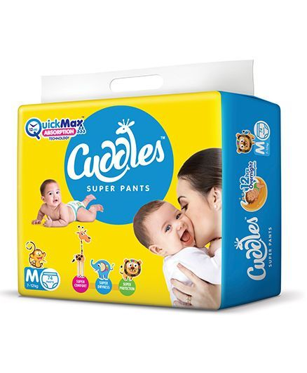03382ba64f Cuddles Pant Style Diapers Medium 74 Pieces Online in India, Buy at ...