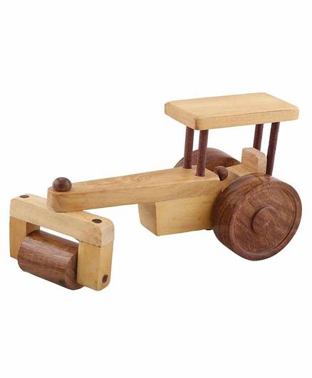 Desi Karigar Wooden Classical Road Roller Toy - Brown