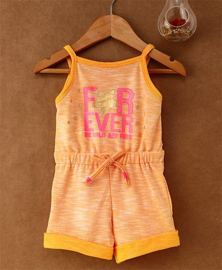 4577a8c48892 Buy Little Kangaroos Singlet Jumpsuit Star Print Orange for Girls (6-12 ...