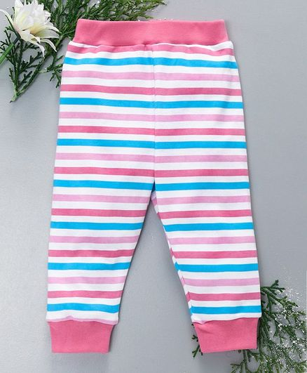 436fd323a09fbc Buy Babyhug Full Length Striped Lounge Pant Pink for Both (2-3 ...