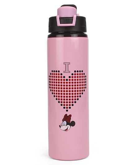 Disney Minnie Mouse Stainless Steel Bottle Black - 750 ml