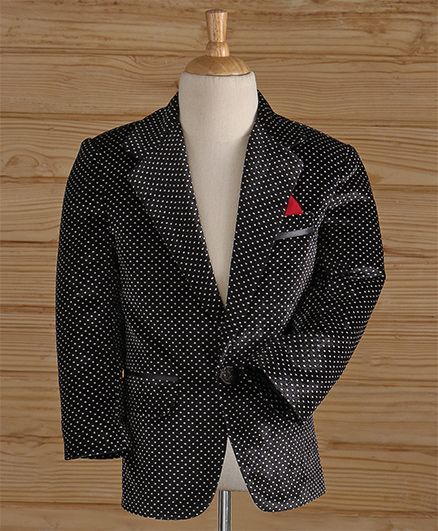 c4713ac8f Buy Jeet Ethnics Party Wear Dot Printed Blazer Black for Boys (10-12 Years)  Online in India, Shop at FirstCry.com - 2075117