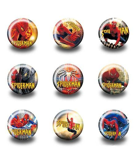 Funcart Spider Man Design Badges Pack of 3 ( Design may vary) Online in  India, Buy at Best Price from Firstcry com - 2075708