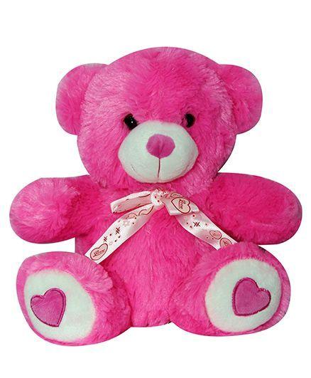 4712fabad Soft Buddies Teddy Bear Soft Toy Dark Pink Height 25 cm Online India ...