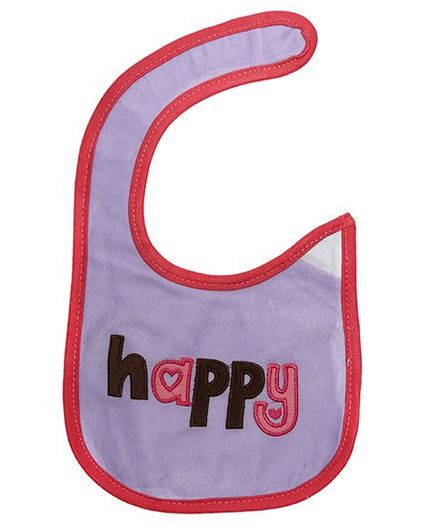 Little Hip Boutique Happy Appilique Bib - Light Purple