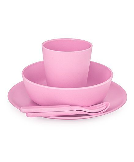 Bobo&Boo Bamboo Dinnerware Set of 5 - Pink