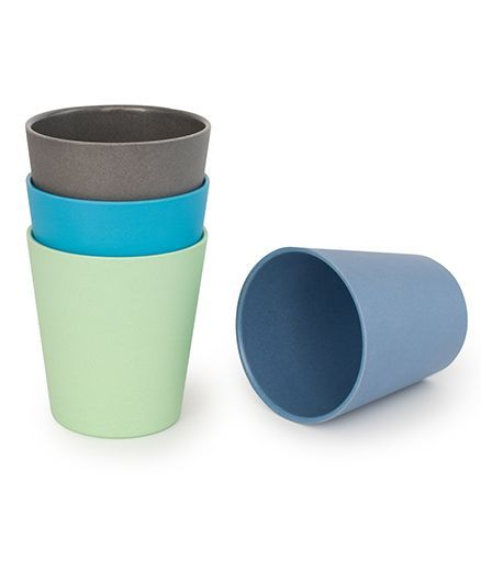 Bobo&Boo Bamboo Drinking Cups Set of 4 - Green Blue Grey