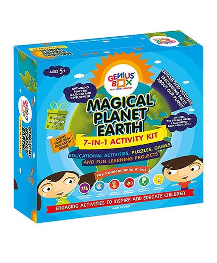 Genius Box 7 in 1 Activity & Learning Magical Planet Earth Educational Activity Kit