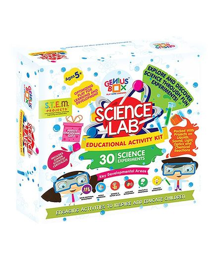 Genius Box 30 Science Experiments & Learning Science Lab Educational Activity Kit