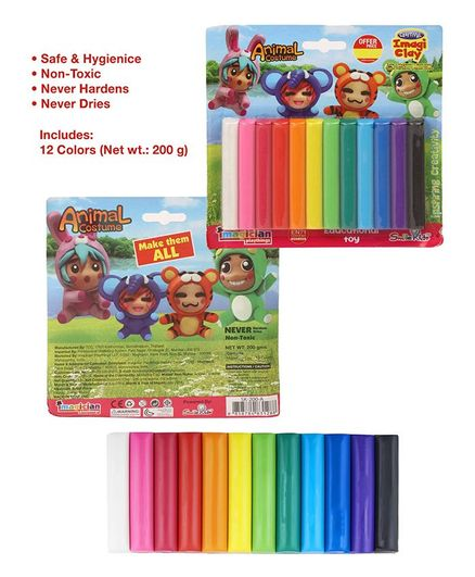 Imagician Playthings Craftival Clay Fun Set 12 Shades - Multicolor